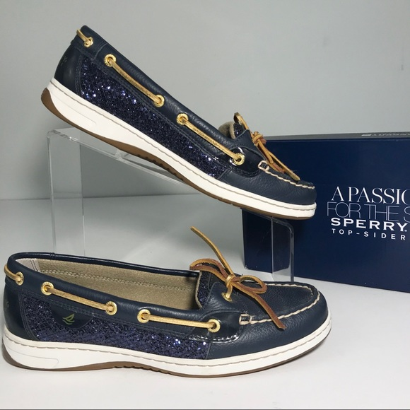 💥SOLD💥Sperry 8.5M Angelfish Glitter Boat Shoes